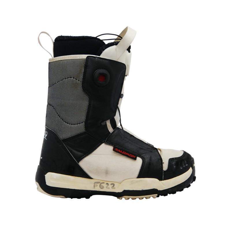 Boots occasion junior Salomon Talapus noir blanc - Qualité A