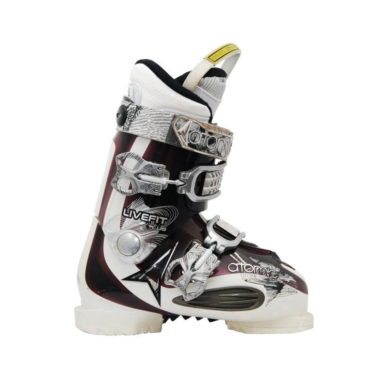 Chaussures de ski occasion Atomic live fit plus violet blanc - Qualité A