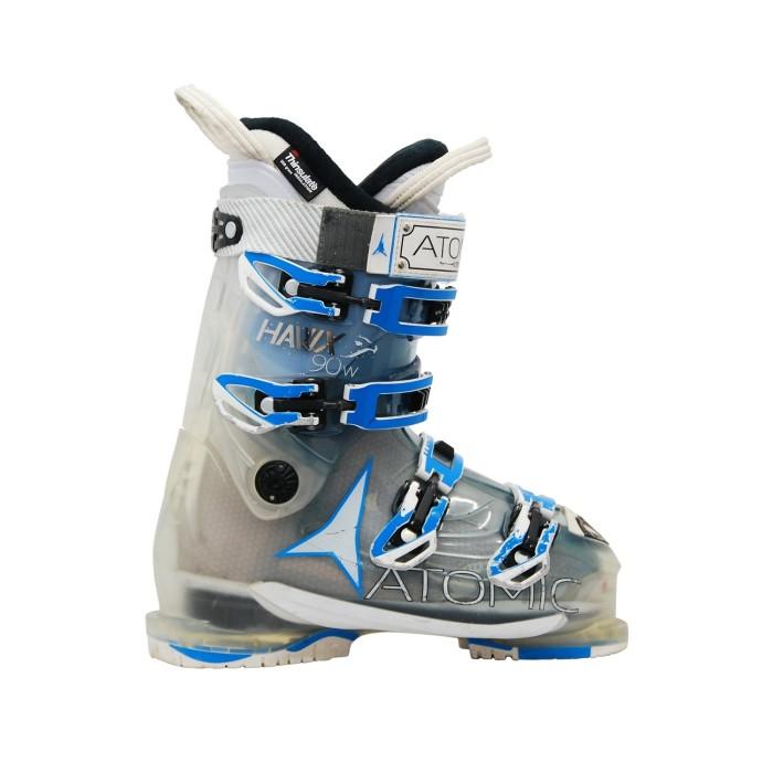 Atomic hawx R 90w translucent used ski boots