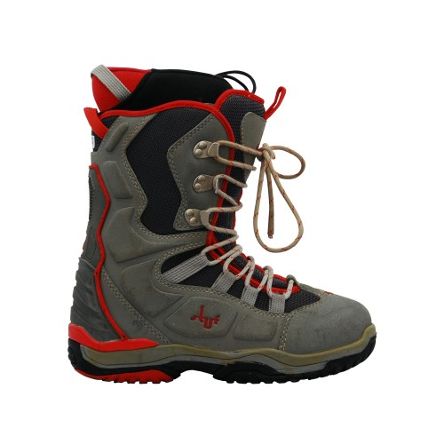 Boots used Red Grey Stuf
