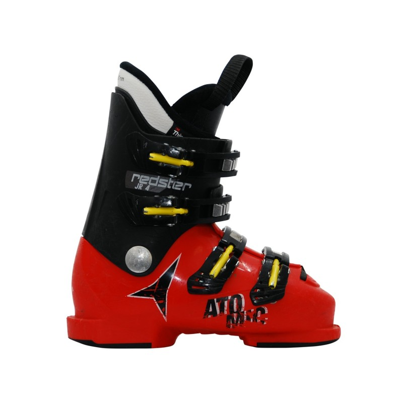 Chaussure ski occasion junior Atomic Redster J4 noir rouge - Qualité A