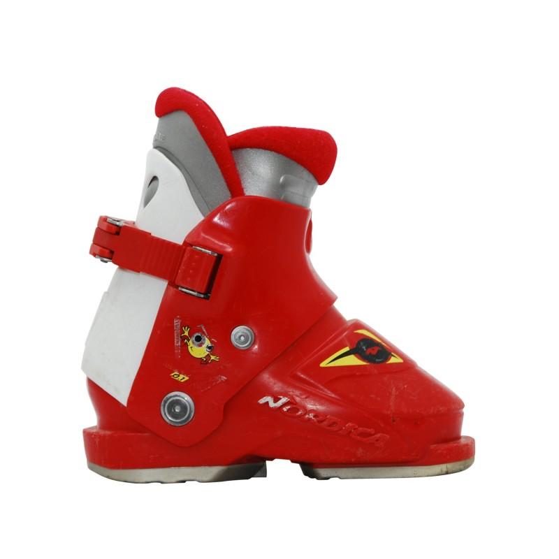 Chaussure de Ski Occasion Junior Nordica super 0,1 rouge/blanc - Qualité A