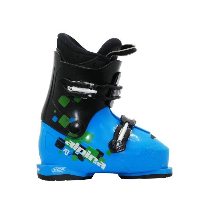 Chaussure de ski occasion junior Alpina AJ2 noir bleu