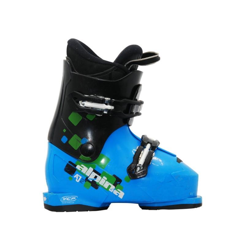 Chaussure de ski occasion junior Alpina AJ2 noir bleu - Qualité A