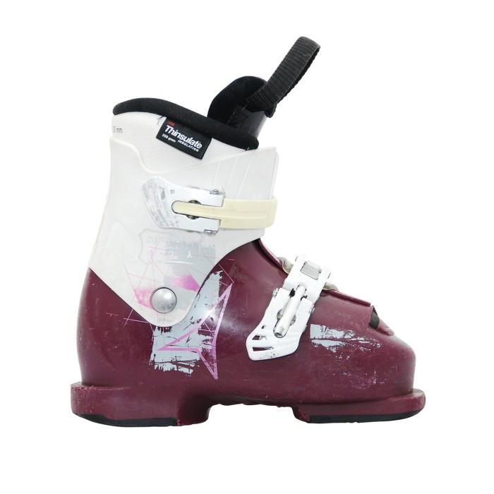 Botas de esquí Junior Waymaker chica púrpura blanco