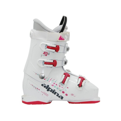Chaussure de ski occasion junior Alpina AJ 4 girl blanc rose
