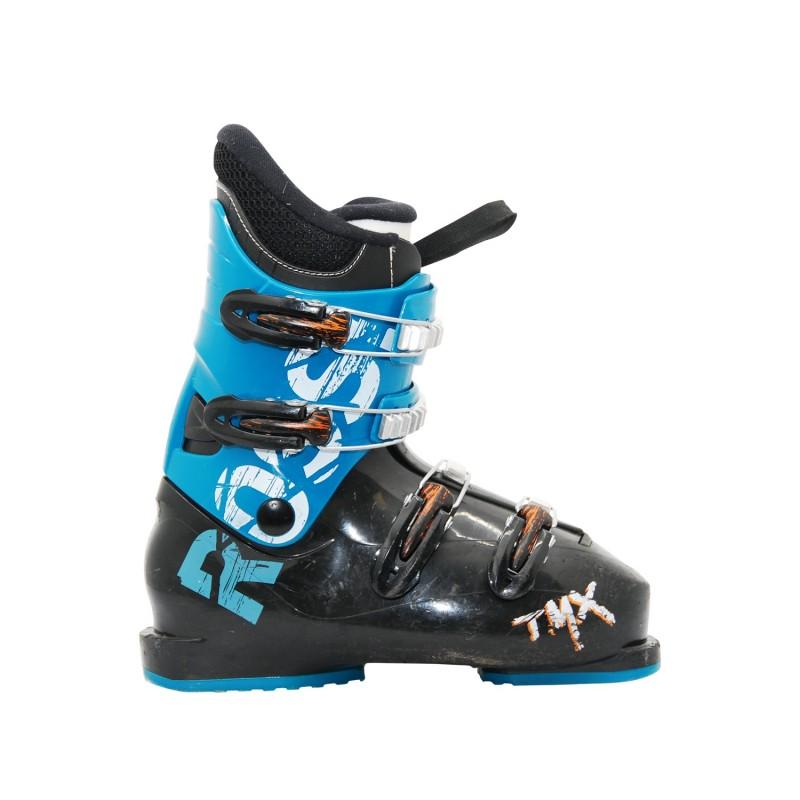 Chaussure de ski occasion junior Rossignol TMX noir bleu - Qualité A