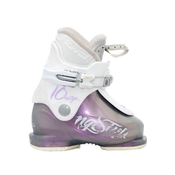 Junior Skier Shoe Fischer mi estilo blanco púrpura