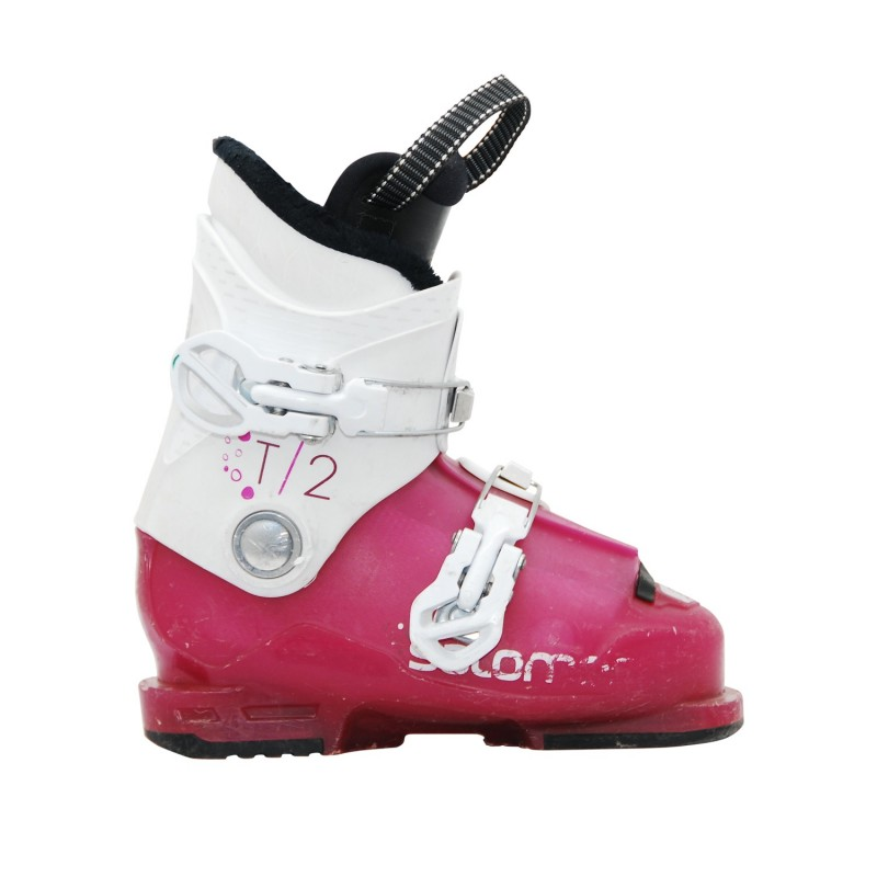 Chaussure de ski d'occasion junior Salomon T2 T3 girly - Qualité A