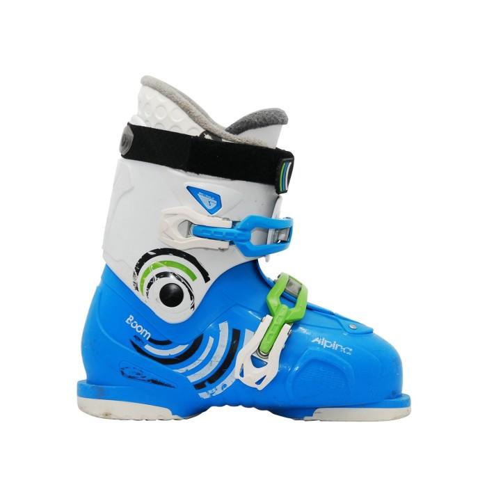 Alpina Boom Junior Scarpa da Sci Blu Bianco