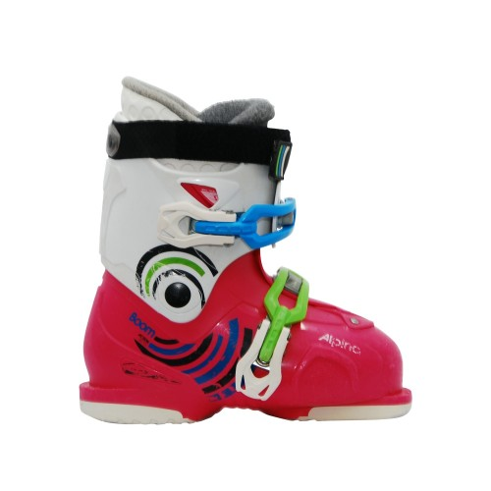 Junior alpina Boom pink silver ski boot