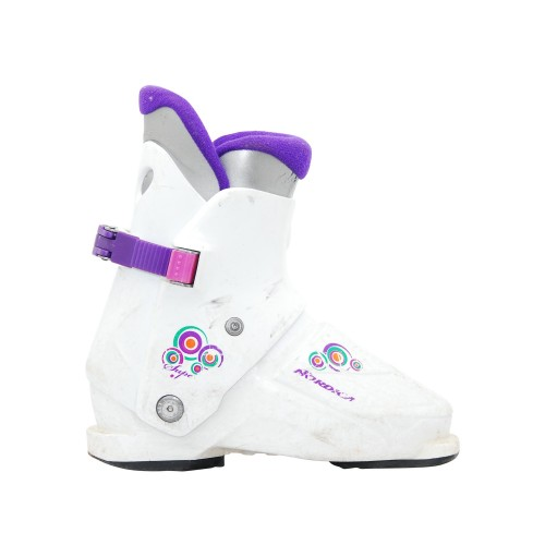 Chaussure de Ski Occasion Junior Nordica super 0,1 blanc violet