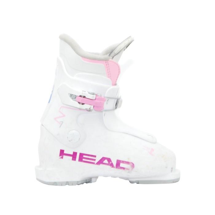 Junior usado Head Z bota de esquí rosa blanco