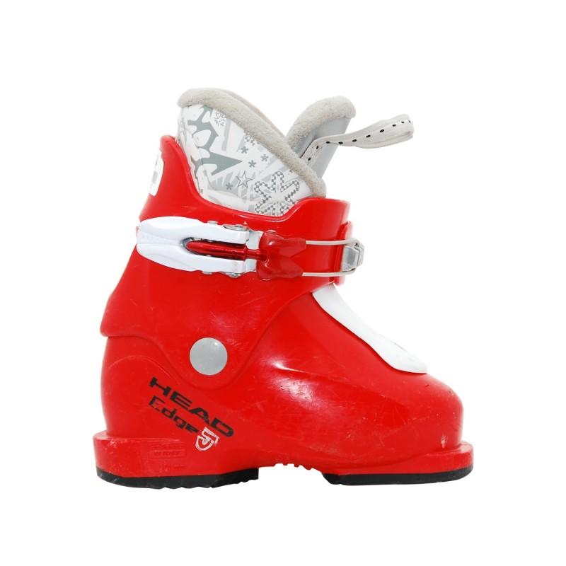 Chaussure de ski occasion junior Head edge J rouge blanche - Qualité A
