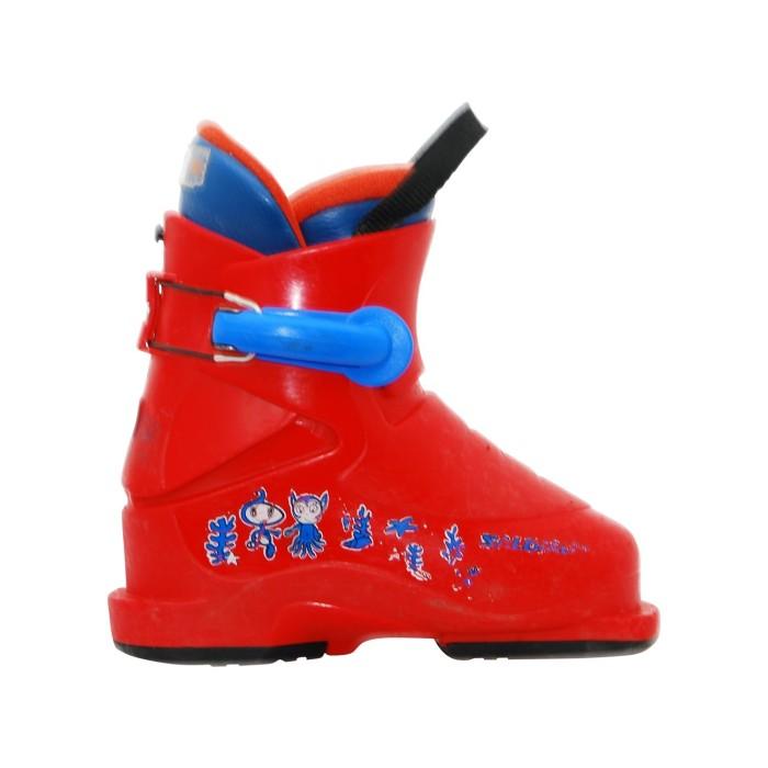 Gebrauchte Skischuh Junior Salomon T1 rot