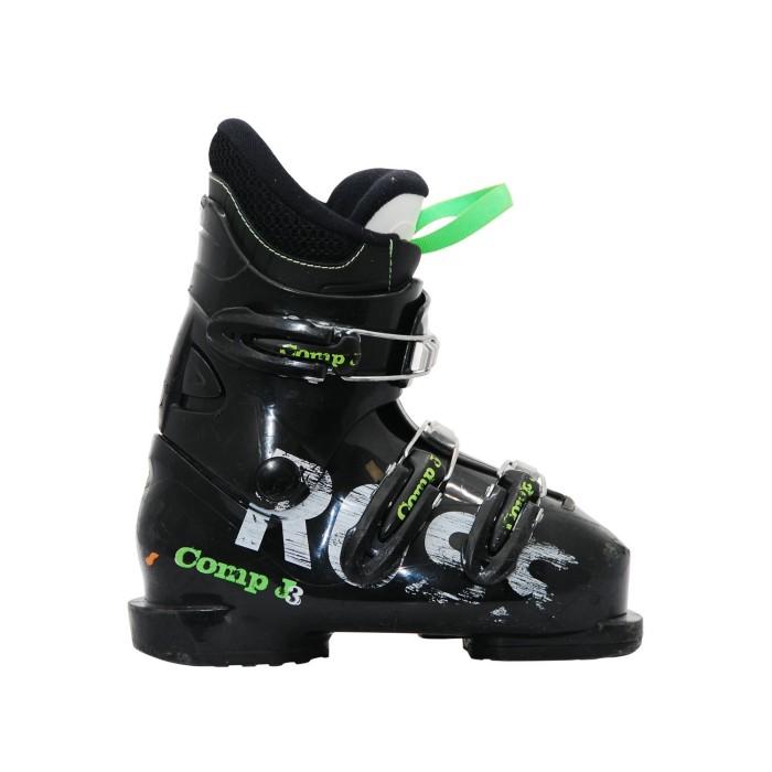 Chaussure de ski occasion junior Rossignol Comp J noir vert