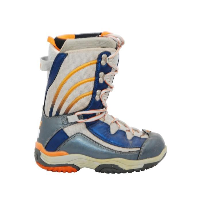 Boots Gelegenheit Stuf grau orange