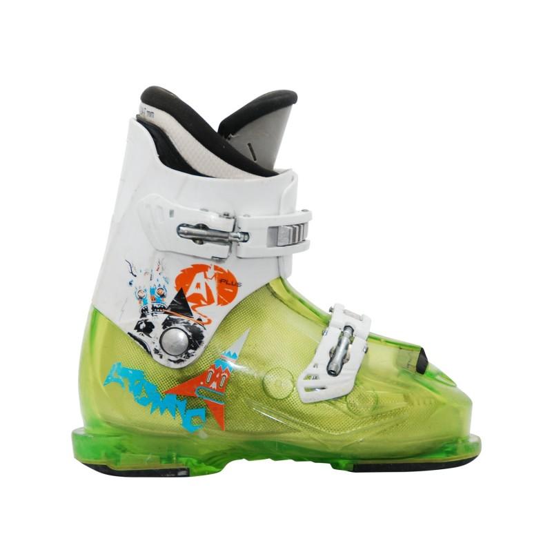 Chaussure de Ski Occasion Junior Atomic AJ plus vert blanc - Qualité A