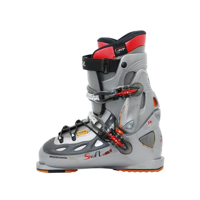Adult used ski shoe model hooks and laces