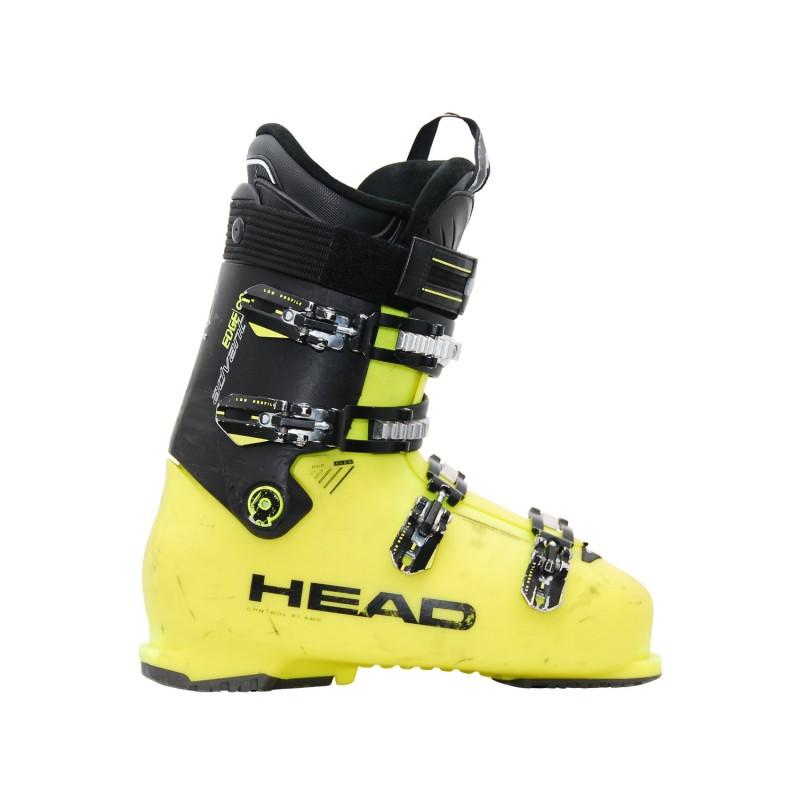 Chaussure de ski occasion Head edge 85 jaune noir - Qualité A