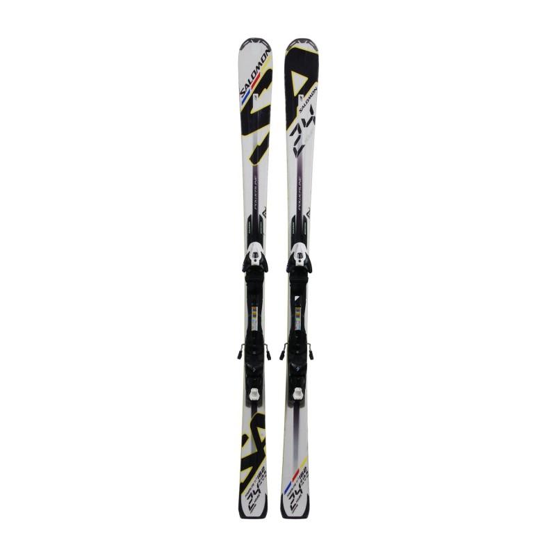 Ski Salomon 24 Hours occasion + fixations - Qualité B