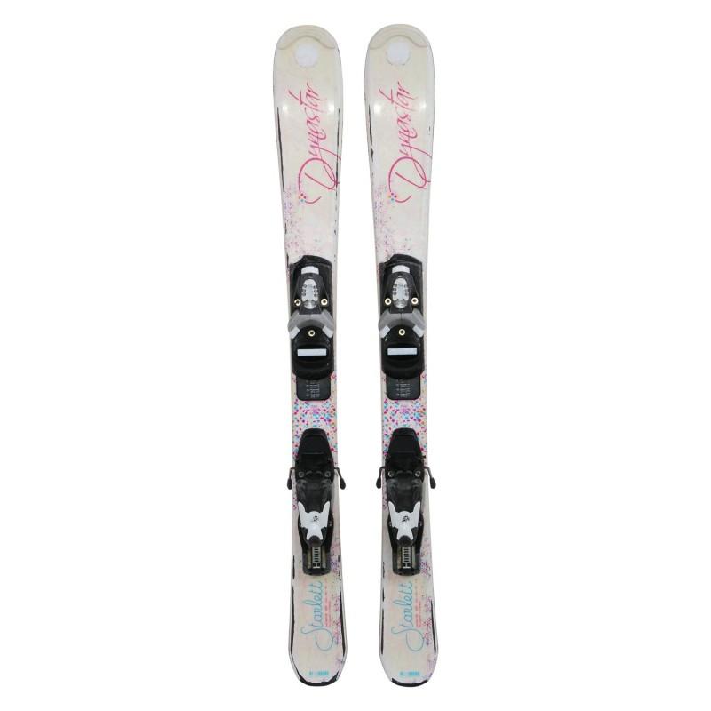 Ski occasion junior Dynastar starlett paillettes + fixations - Qualité B