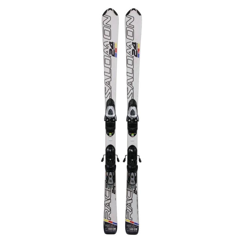 Ski occasion junior Salomon 24 hours + fixations - Qualité B