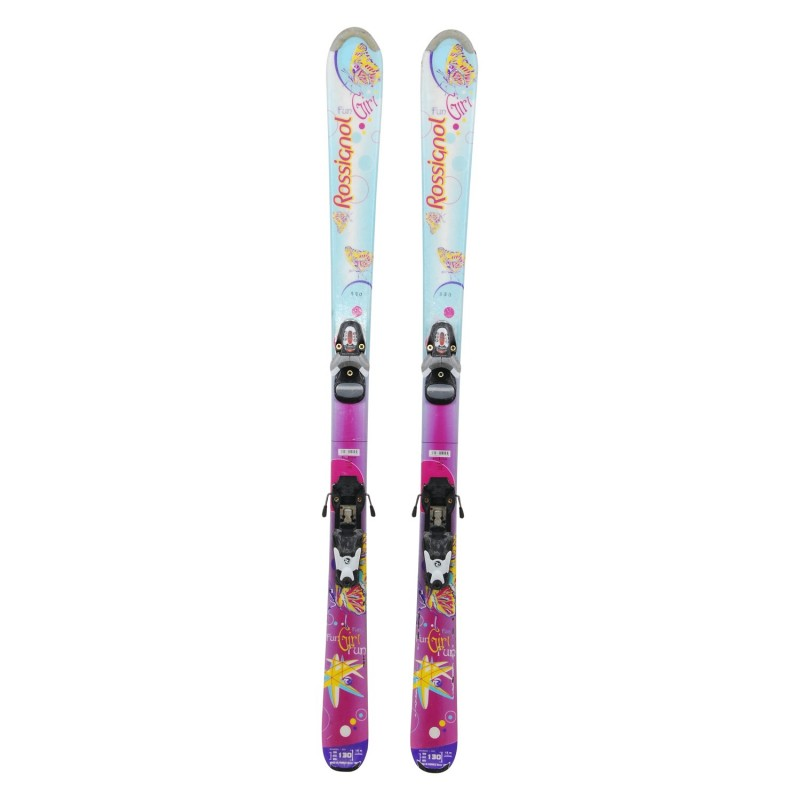 Ski occasion junior Rossignol fun Girl + fixations - Qualité B