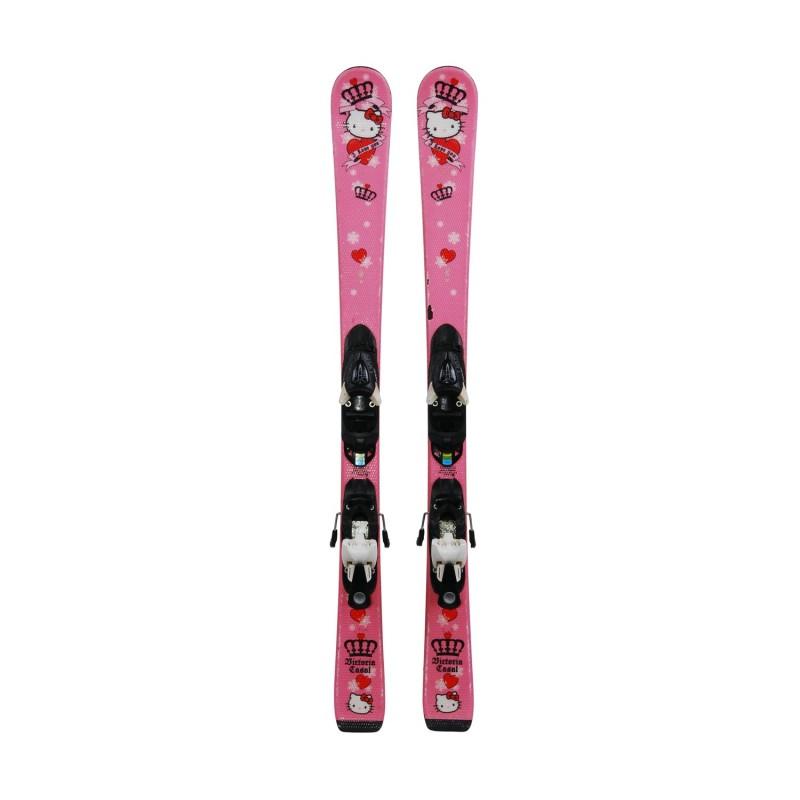 Ski occasion junior Hello Kitty Victoria Casal + Fixations - Qualité B