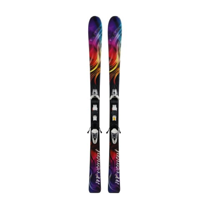 Esquí usado movimiento brillo púrpura - fijación
