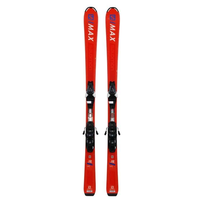 Gebrauchte Ski Salomon S MAX JR orange + Befestigungen