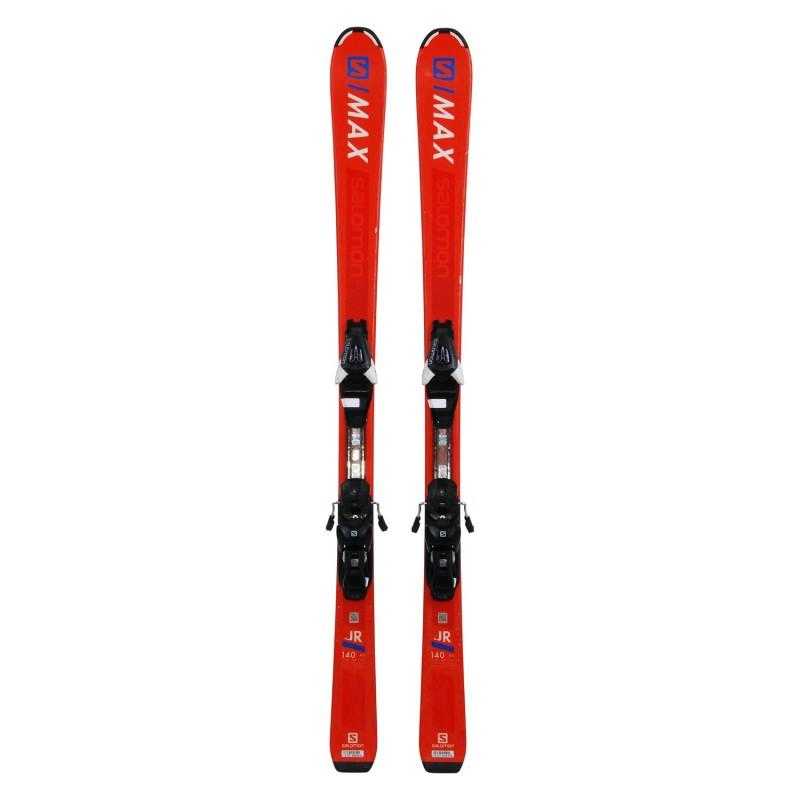 Ski occasion Salomon S MAX JR orange + fixations - Qualité A