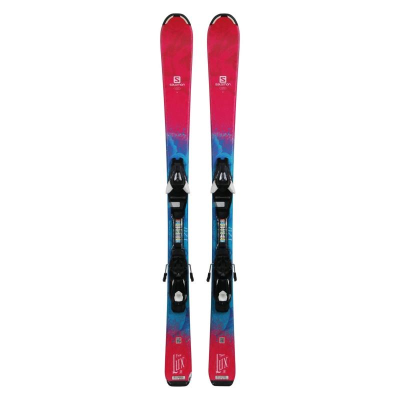 Ski occasion junior Salomon THE LUX + fixations - Qualité A
