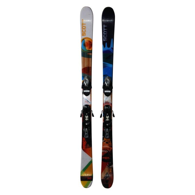 Ski junior Scott rascal F.S occasion + fixations - Qualité A