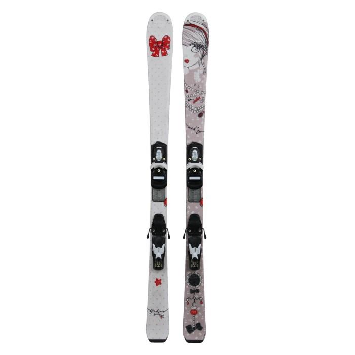 Ski occasion Junior Wedze Starliner Girly + fixations