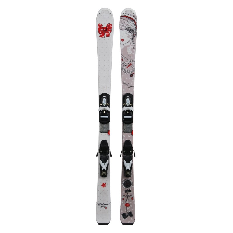 Ski occasion Junior Wedze Starliner Girly + fixations - Qualité A