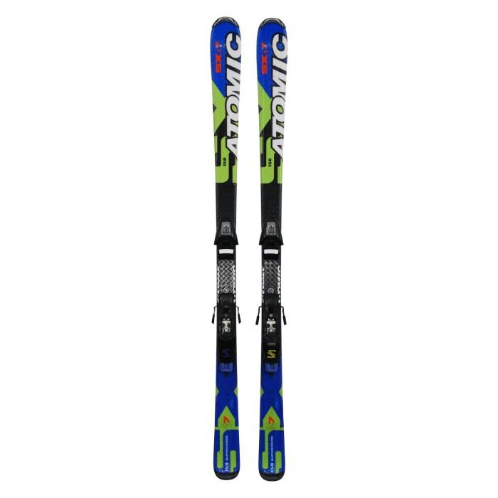 Gebrauchte Ski für Junior Atomic SX7 Supercross + Befestigungen