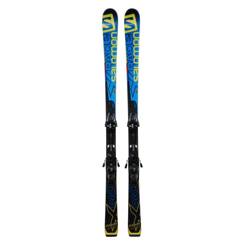 Ski occasion junior Salomon X race GS + fixations - Qualité A