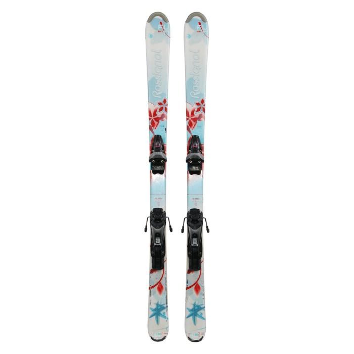 Ski occasion junior Rossignol fun Girl turquoise + fixations