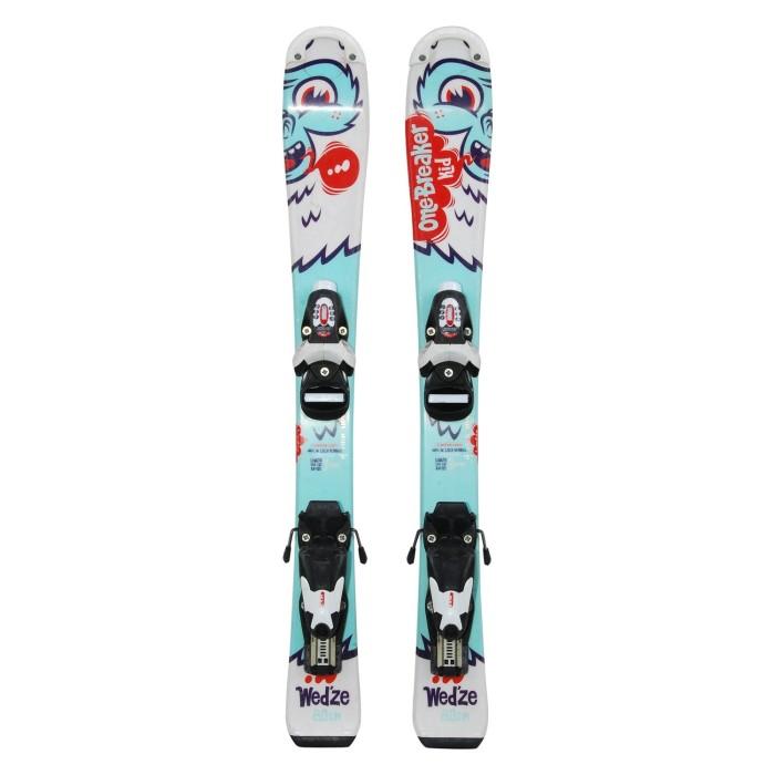 Ski occasion junior Wedze Onebreaker kids yéti + fixations