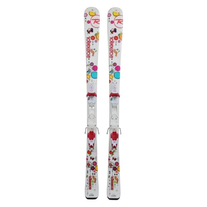 Ski für Junior Rossignol Fun Girl Schmetterling + Befestigungen