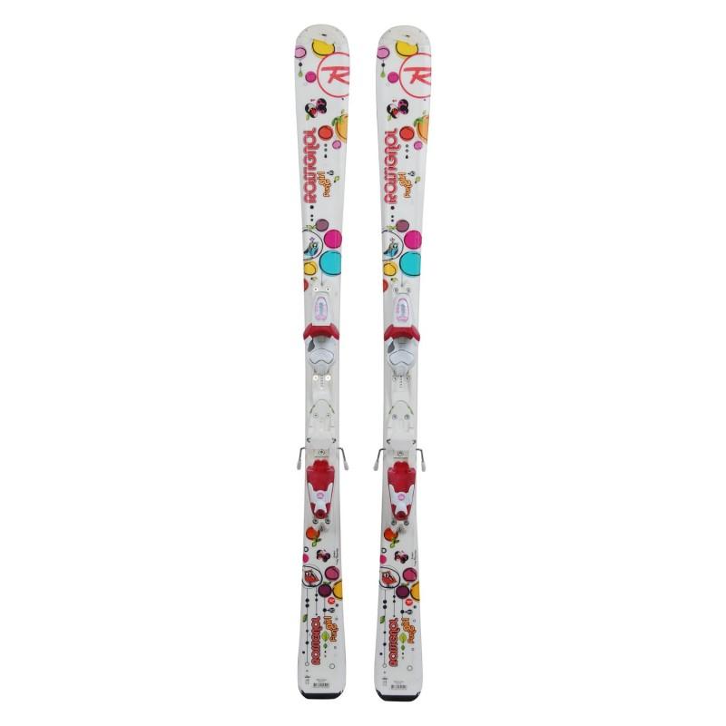 ski occasion junior Rossignol Fun Girl papillon + fixations - Qualité A