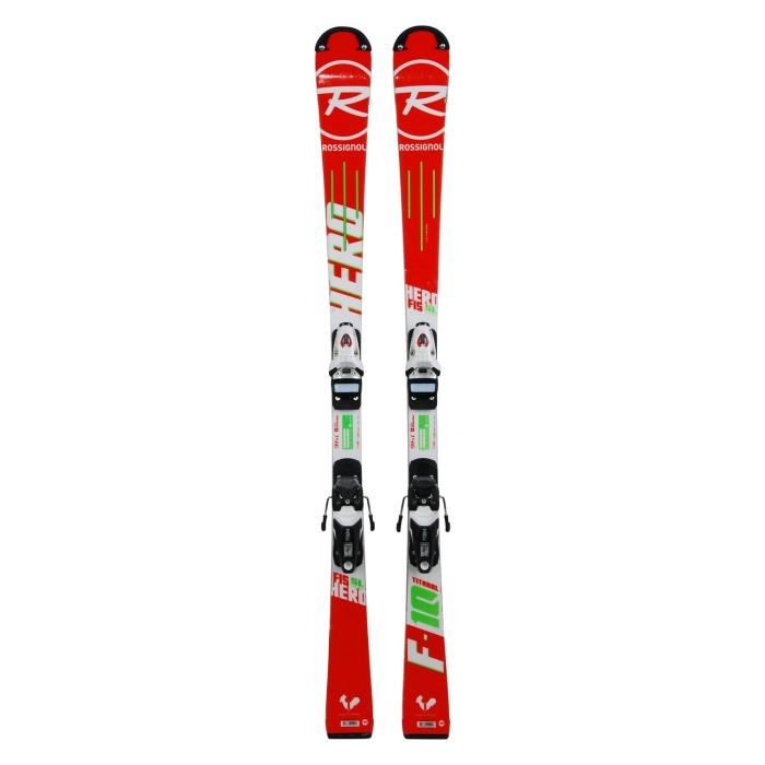 Gebrauchte Junior-Ski Rossignol hero FIS SL pro + Befestigungen