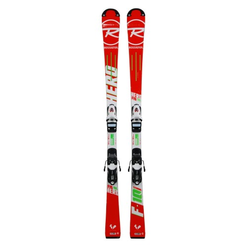 Ski occasion junior Rossignol hero FIS SL pro + fixations