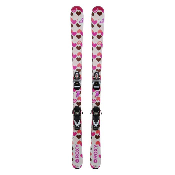 Gebrauchte Ski Junior Roxy herzbraun + Befestigungen