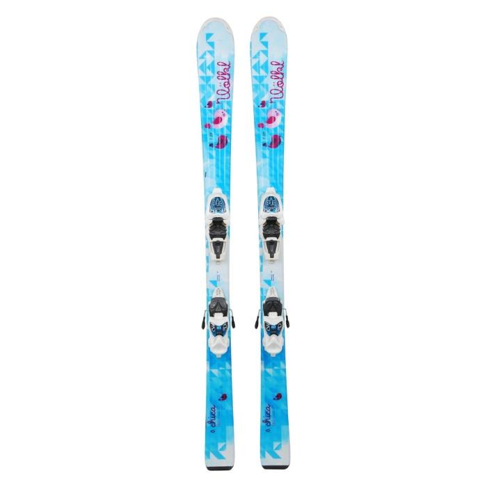 Ski occasion junior Volkl chica turquoise + fixations