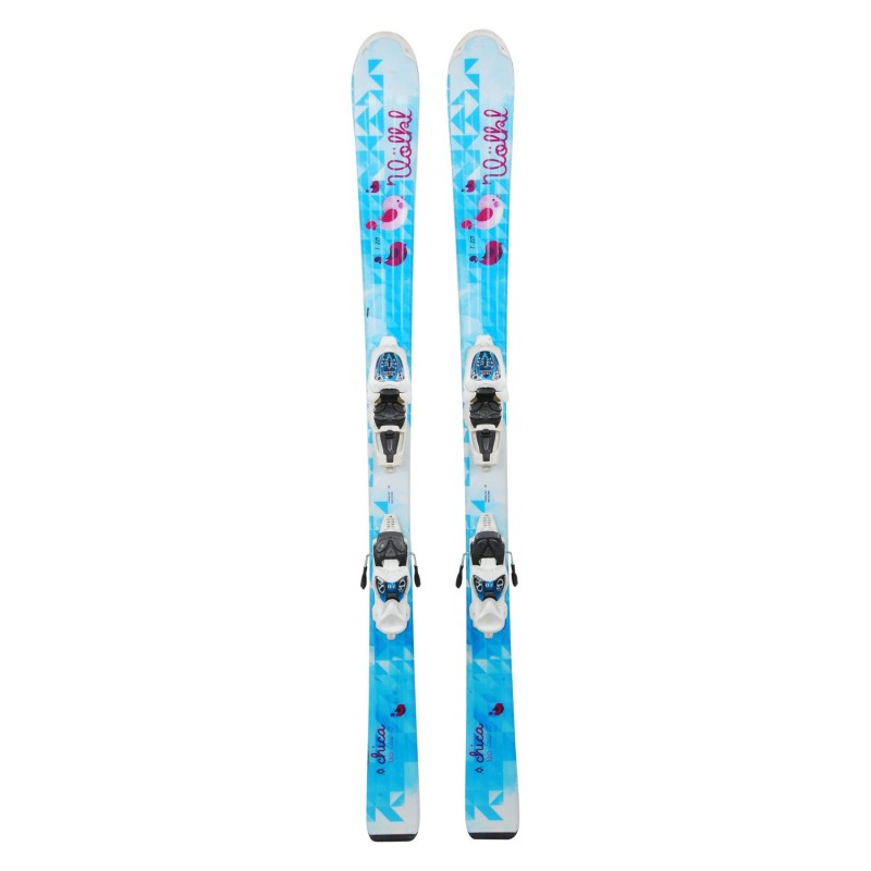 Ski occasion junior Volkl chica turquoise + fixations - Qualité A