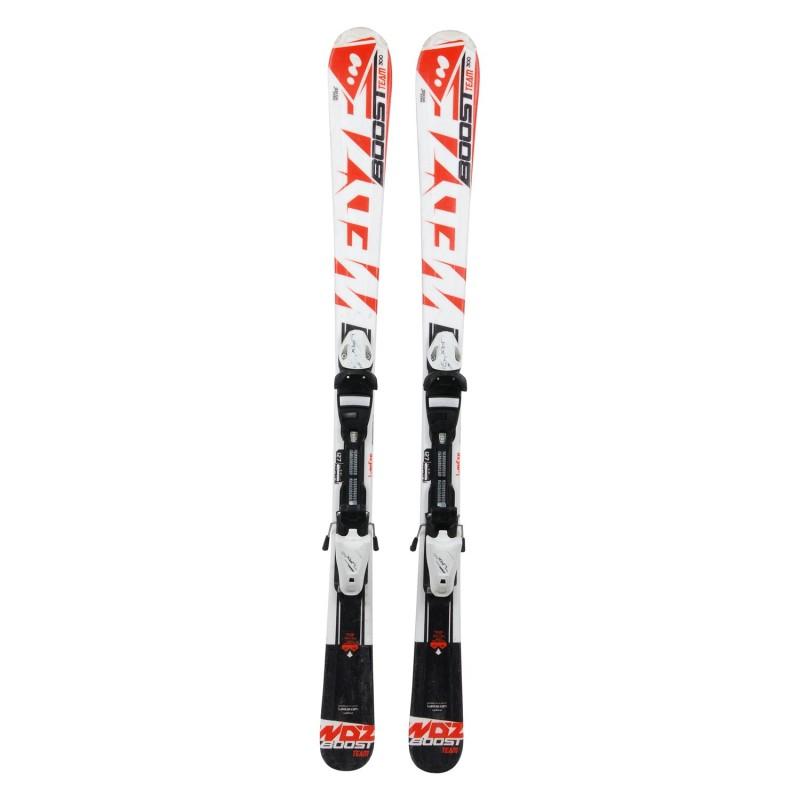 Ski occasion junior Wedze Boost Team 300 Orange + fixations - Qualité A