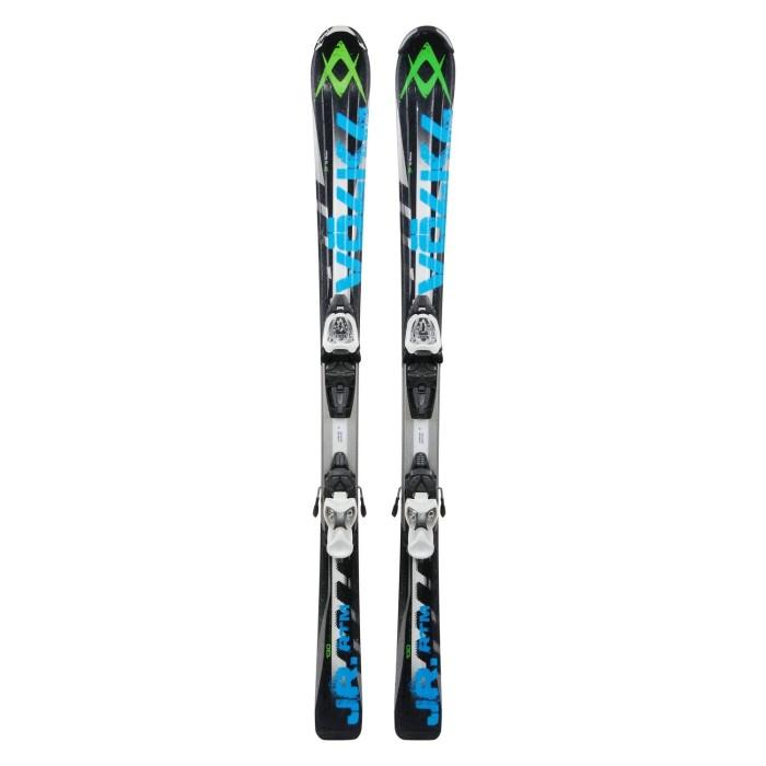 Ski occasion junior Volkl RTM noir/bleu + fixations
