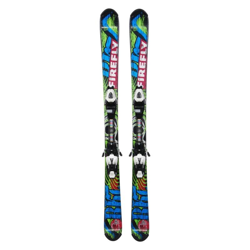 Ski occasion junior Technopro Firefly Rocket + fixations - Qualité A